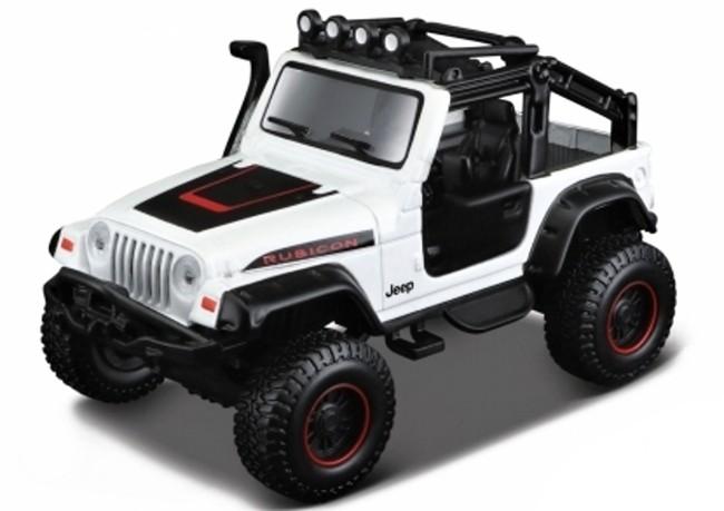 Maisto Jeep Wrangler Rubicon 4x4, Bílý 1:35