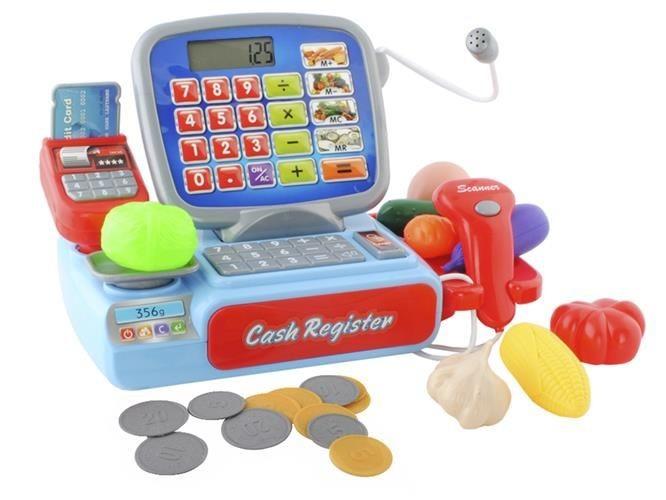 Dětská dotyková pokladna s doplňky na baterie