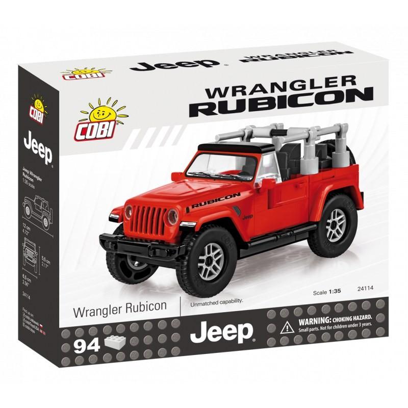 Cobi 24114 Jeep Wrangler Rubicon 4x4, červený 1:35