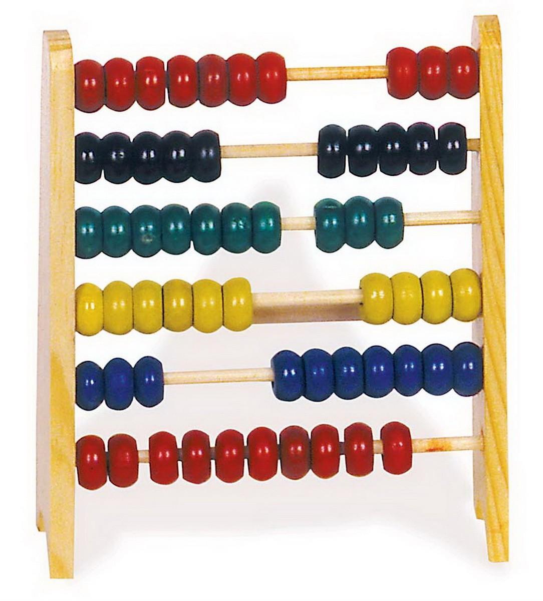 Dětské dřevěné počítadlo 16 x 18 cm barevné