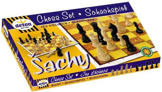Detoa dřevěné stolní Šachy