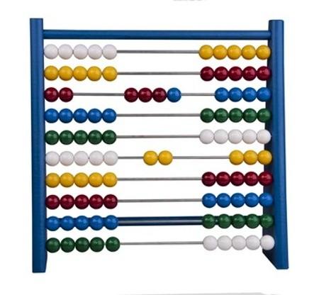 Dřevěné kuličkové počítadlo, Modré 24 x 6 x 23 cm
