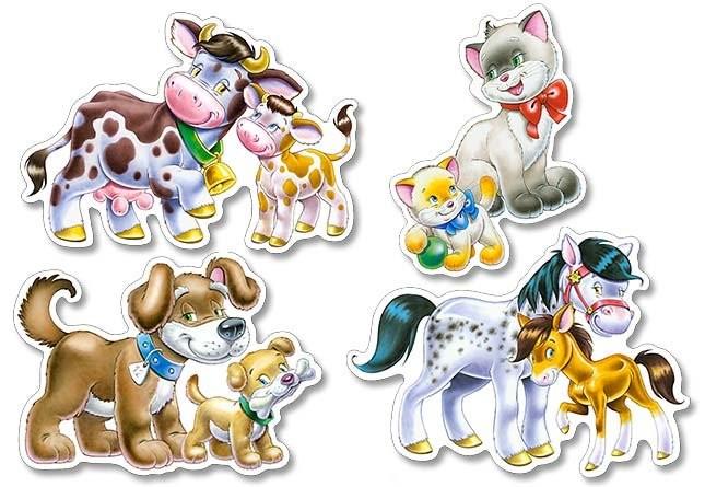 Castorland puzzle sada 4 v 1 - Domácí zvířata