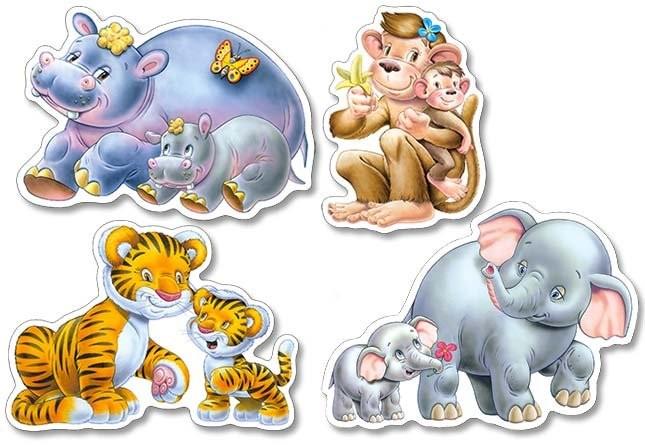 Castorland puzzle sada 4 v 1 - zvířátka v ZOO