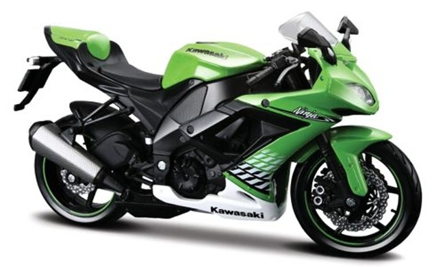 Motorka Kawasaki Ninja ZX-10R (2010) Zelená, Maisto 1:12