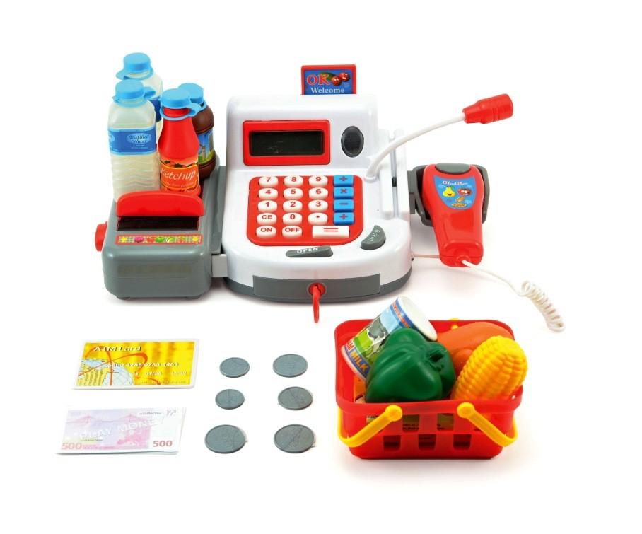 Dětská pokladna s doplňky na baterie