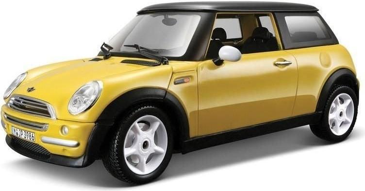Bburago Kit Mini Cooper žlutý 1:24