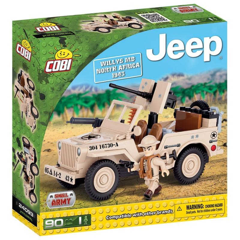 Cobi 24093 - JEEP Willys MB severní Afrika