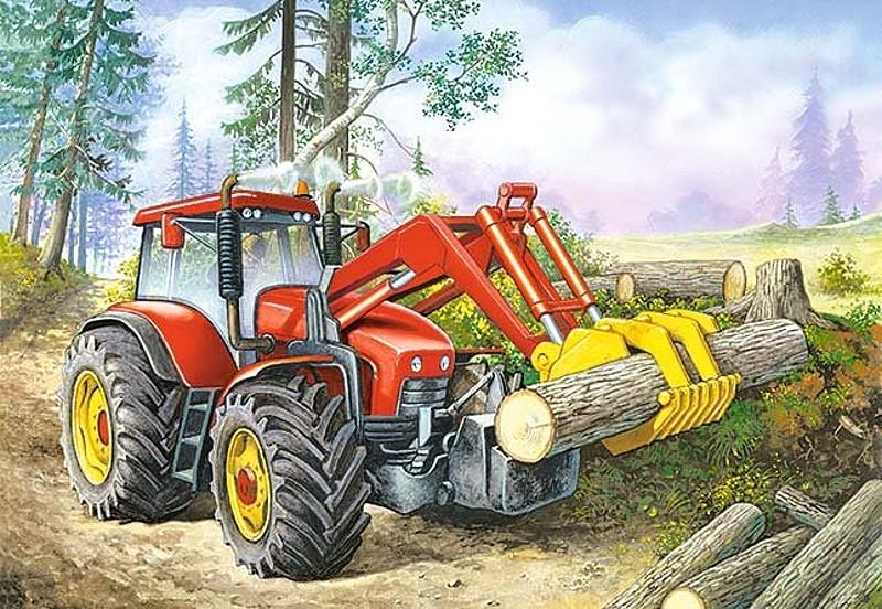 Castorland puzzle 60 dílků - Traktor nakladač