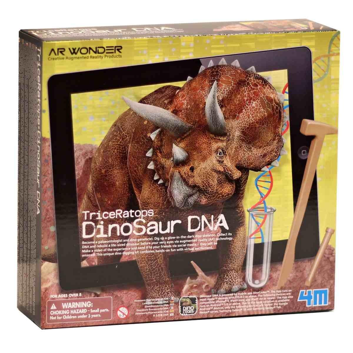 Dinosauří DNA TriceRatops, Skládací svítící kostra
