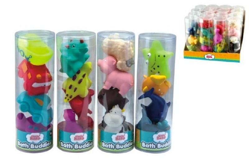 Stříkací hračky do vany zvířátka, Sada 4ks